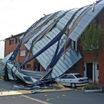 Office roof fell in